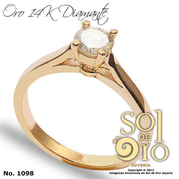 Solitario de compromiso con diamante central desde 0.50 ct a 0.90 ct gold 14k y 18k . #diamantes #solitario