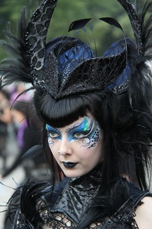Goth Girl in Hat, via Flickr.  WAVE GOTIK TREFFEN