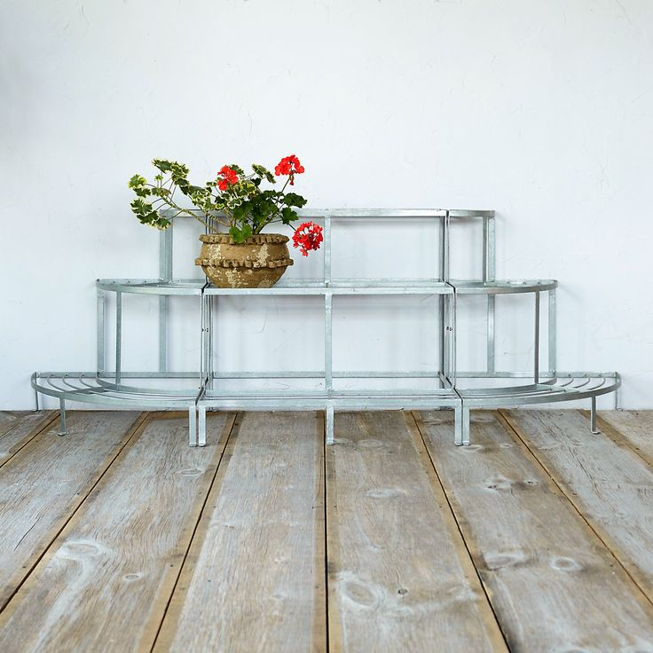 Hand Crafted From Durable Wrought Iron With A Galvanized Finish, This  Gracefully Curved Trio