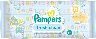 Pampers Fresh Clean Baby Wipes (64)