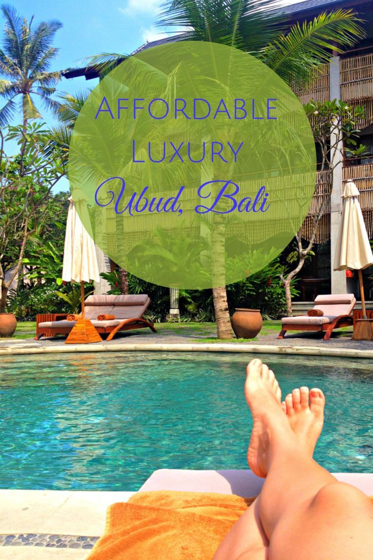 Affordable luxury in Ubud, Bali at a great boutique hotel - a great vacation splurge!