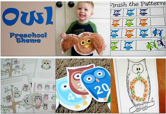 Mommy's Little Helper: Owls Preschool Theme