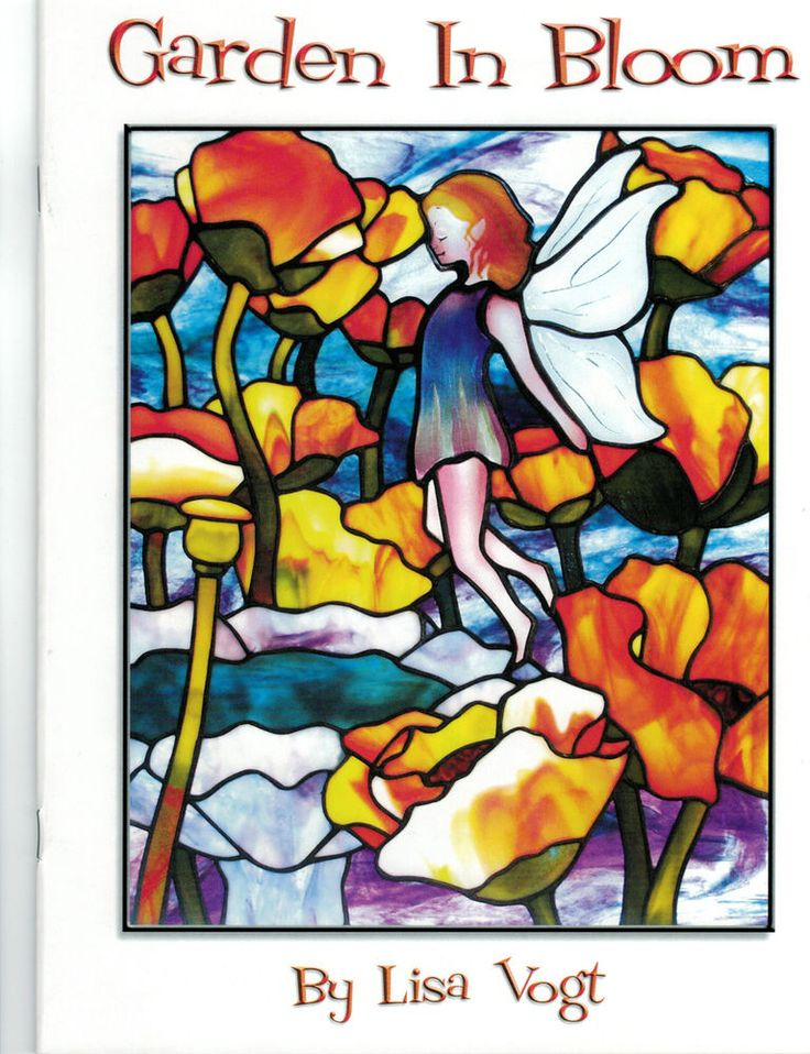 Oop Rare Divination Tarot Cards Unused Sealed Deck By: OOP & Rare GARDEN IN BLOOM Stained Glass Pattern Book Lisa