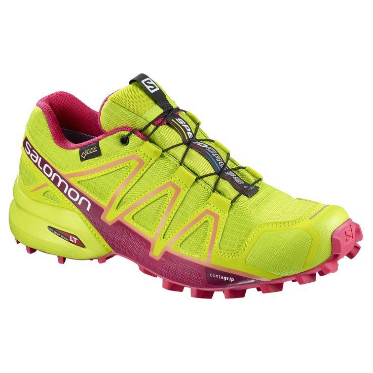 Doorout Angebote Salomon Speedcross 4 GTX women Laufschuh neon,lime green/virtual pink/bird of paradise Damen Gr. 8,5 UK:…%#Quickberater%