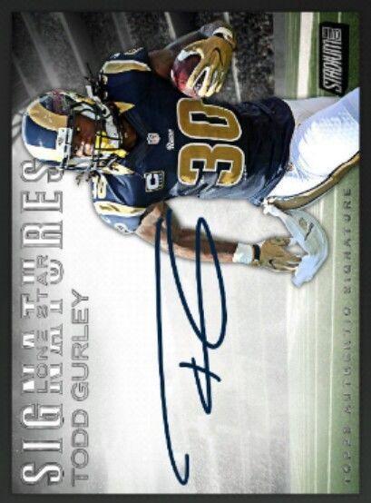 Todd Gurley Stadium Club Lone Star Signatures Topps Huddle *Digital Card* | Sports Mem, Cards & Fan Shop, Sports Trading Cards, Football Cards | eBay!