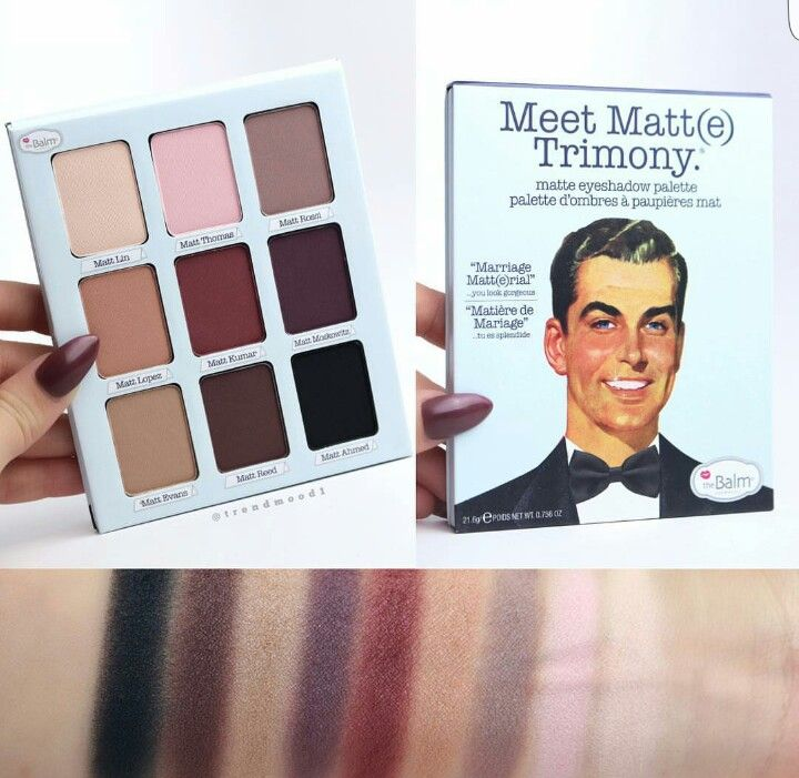 The Balm - Meet Matte Trimony palette
