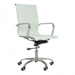 Casino Ribbed Office Chair White