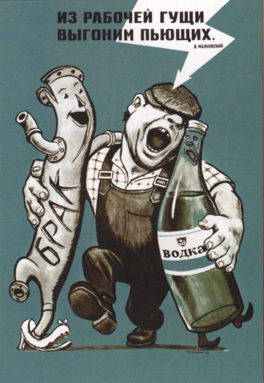 Soviet Anti-Alcohol Posters from the 1920s—60s