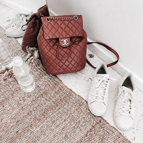 tan chanel backpack