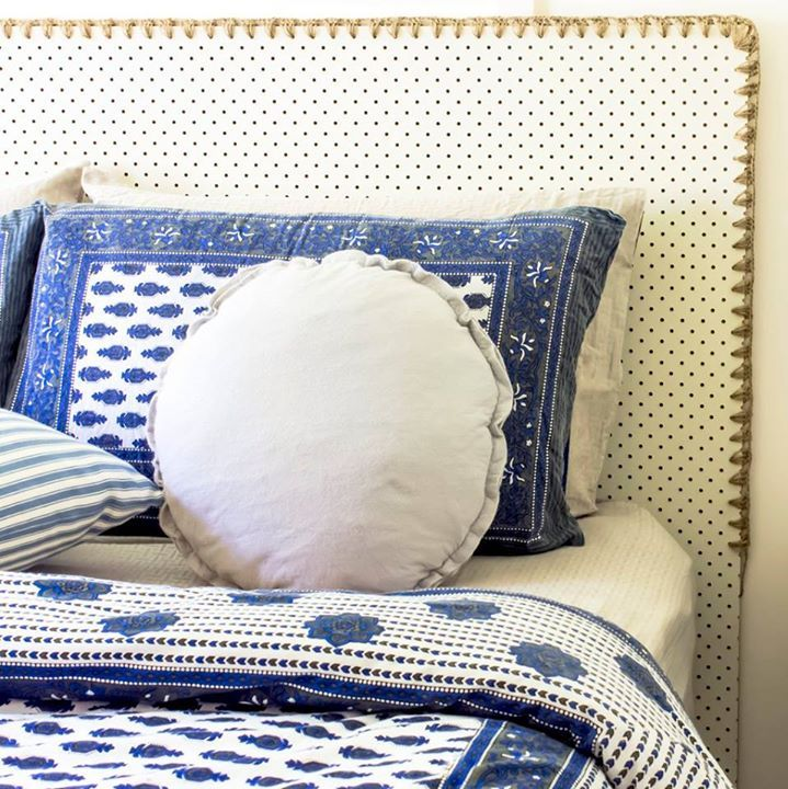 from Hip Brown Home - LOVE LOVE LOVE this pegboard headboard. Could combined this with cross stitch :)