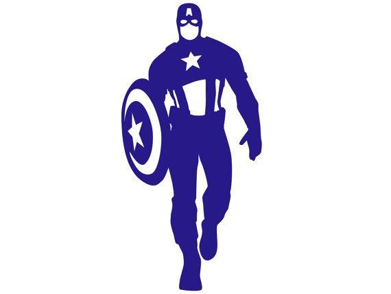 Captain America Silhouette Paper Ephemera Stencil by RiniPaperCuts