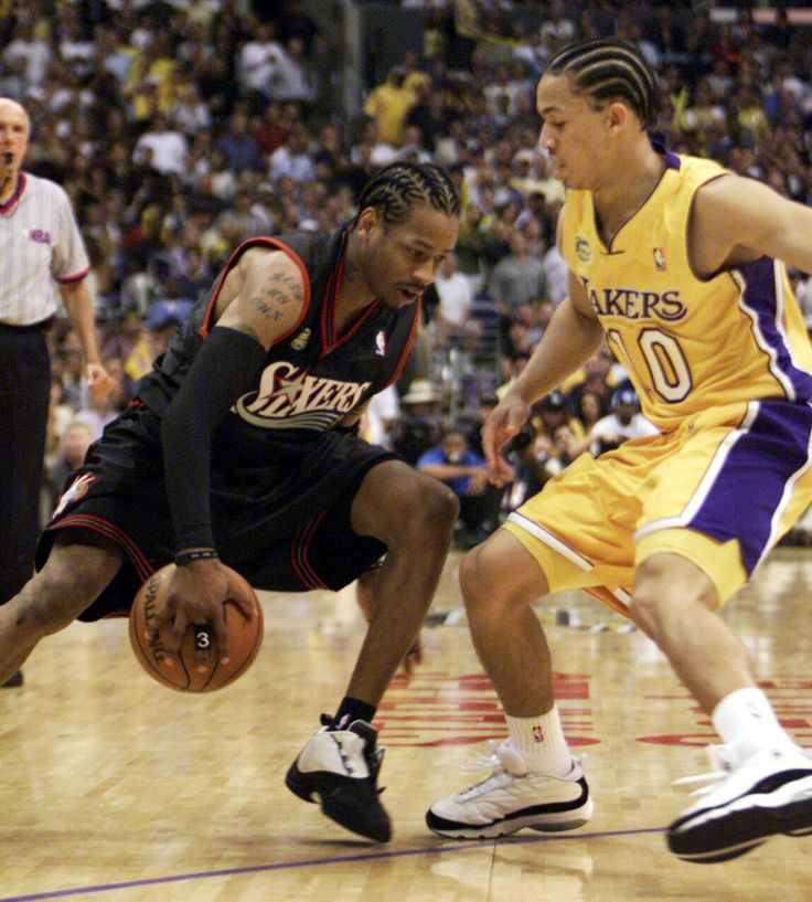 The best moments in NBA Finals history: Allen Iverson steps over Tyronn Lue NBA Finals  #NBAFinals