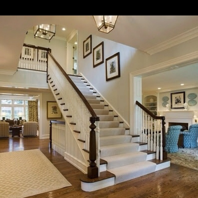 I Think I Like The Carpet Runner Over The Wood Stairs My