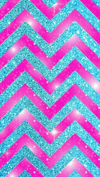 Chevron pink and blue