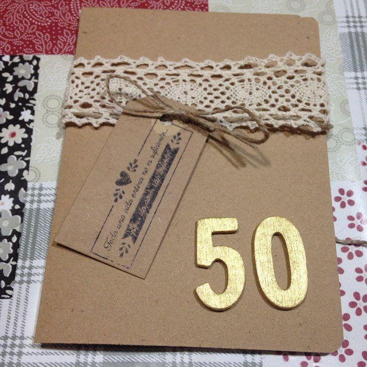 Invitación 50 aniversario boda. Bodas de oro