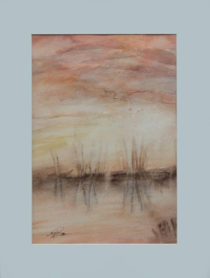 """""""Sunset III"""" 2015 21 x 30 cm Watercolour on cotton paper 300 g luigibarra.blogspot.it"""