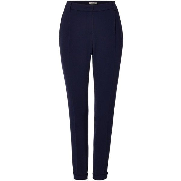Marella Nigeria slim fit trousers ($170) ❤ liked on Polyvore featuring pants, navy, women, slim fit trousers, navy blue trousers, marella, blue trousers and slim trousers