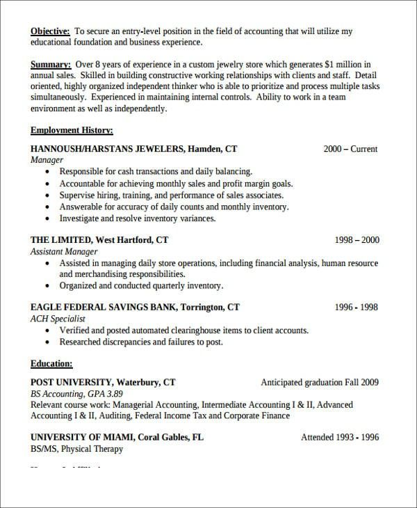 Work Experience Junior Accountant Resume Sample Five Things That You Never Expect On Work Ex In 2020 Accountant Resume Work Experience Resume