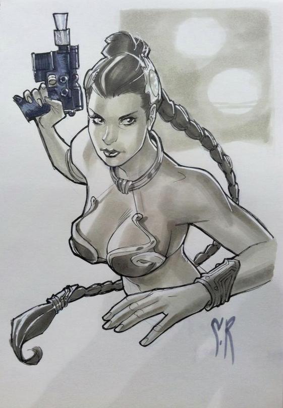 Leia by Stephane Roux, drawn at C2E2 2013
