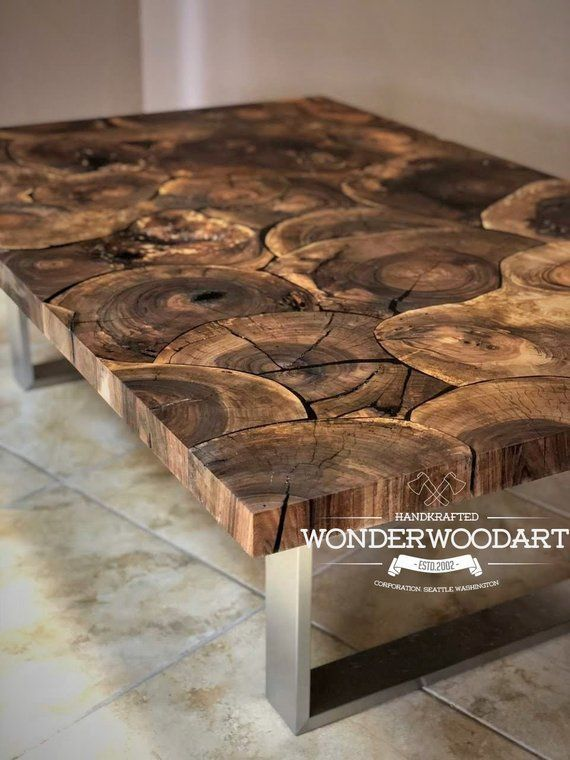Live Edge walnut coffee table 62x 39 walnut   – Gemütliche küche