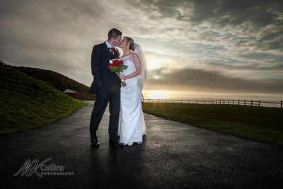 Sunset shots by Marc Collins at Ocean Kave.  Hayley and Lances wedding x