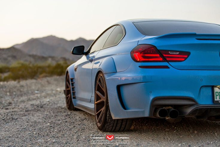 Yas Marina Blue BMW F12 650i by Prior Design Widebody Project Car on Vossen Wheels