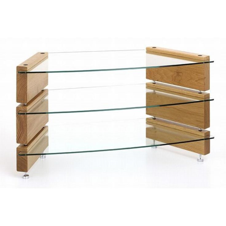 Furniture. Awesome Stylish Clear Glass Low Shelf Corner Tv Stand Combined  With Hardwood And Stainless