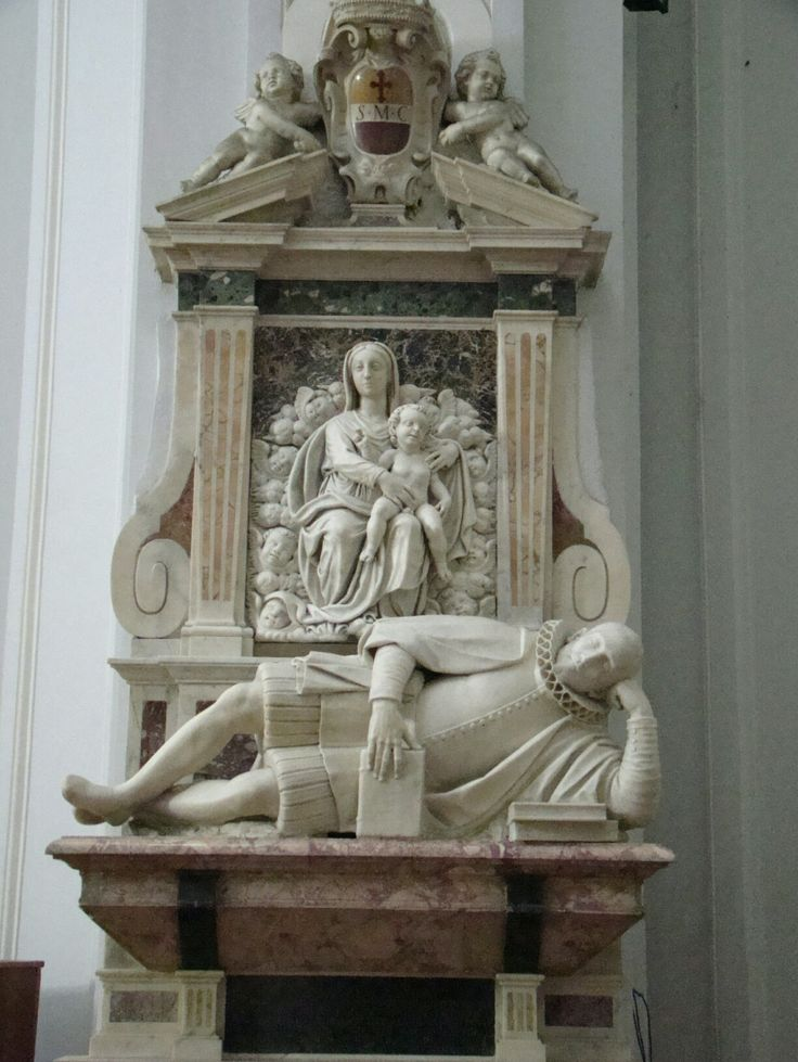 Monumento funebre di Nunzio Pelliccia.  Girolamo d'Auria. Post 1608-1609. Santa Maria in Costantinopoli.  Napoli