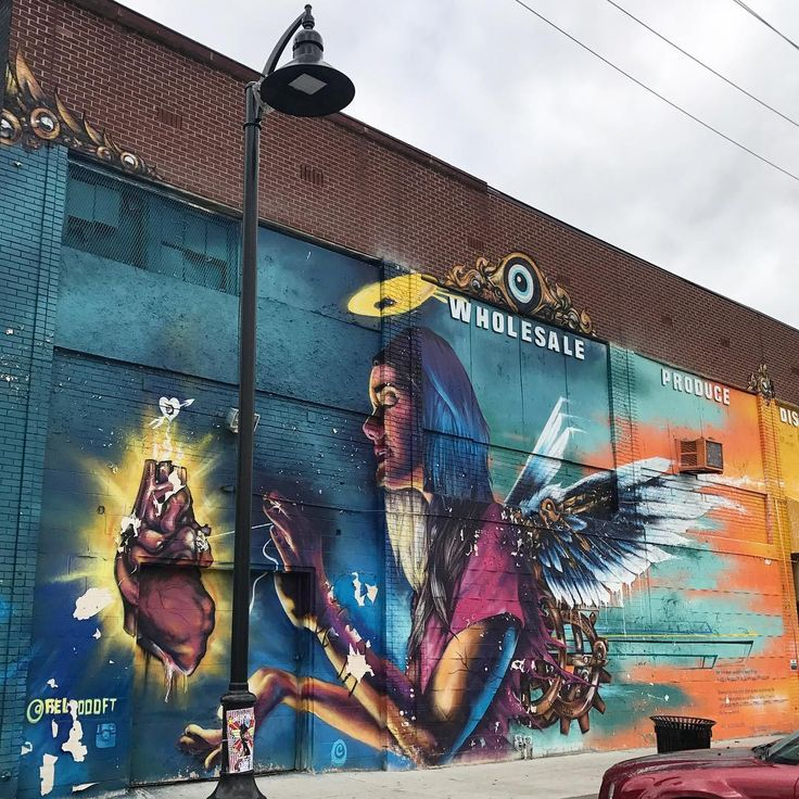 'We rise from the ashes... We are Detroit' - tbt to @fel3000ft at @MuralsintheMarket seen on Russell Street in Eastern Market, Detroit last month.  #muralsinthemarket #detroitstreetart #latergram #fel3000ft