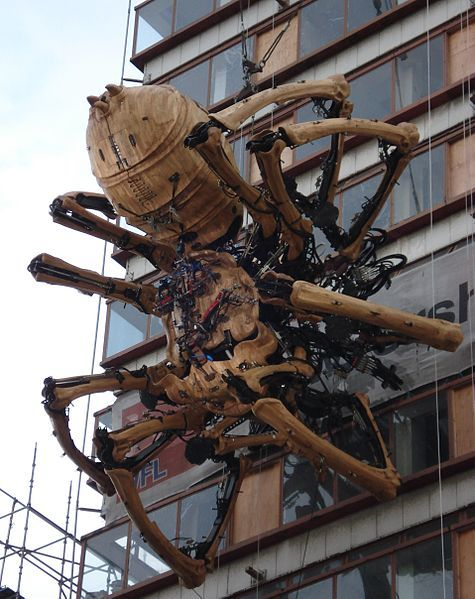 La Princesse, the giant mechanical spider that roamed through Liverpool in September 2008.