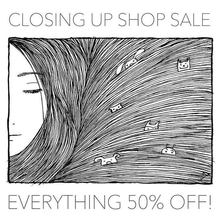 I'm closing my Etsy shop: -50% on everything until February 4! studiogroenling.etsy.com #etsyshop #etsyseller #handmade #illustration #handmadejewelry
