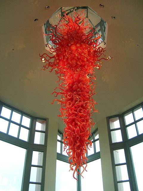 Chinook Red Chandelier Dale Chihuly 1999