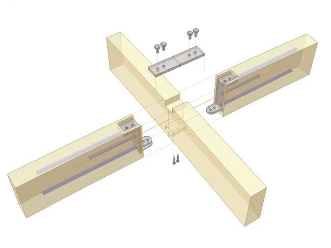 Bahnsteigüberdachung HBF, Kassel Neubau, Dach Construction detail lamella