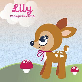 Bambi heeft het al gezien: er is een klein wondertje geboren! Dit schattige geboortekaartje is voorzien van een lief hertje.