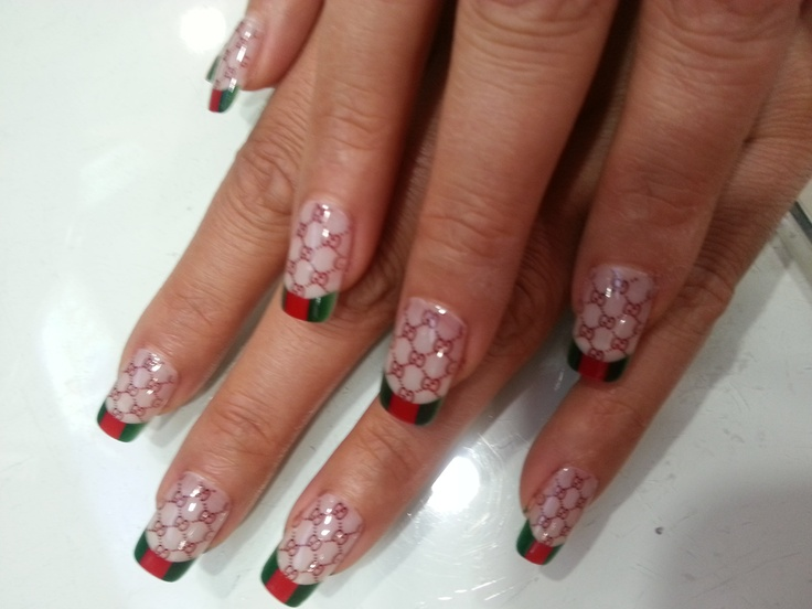 print on your nails with Tink'd  #gucci #frenchtips #hotnails #oringinal #anypic #omg #nailart #naildesign