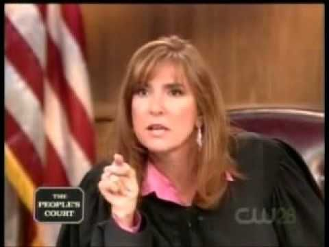 A good lesson in respect....Judge Milian From The People's Court Owns A Law Student!