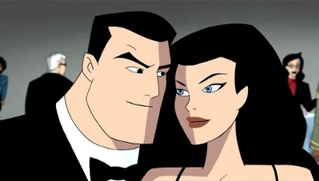 Bruce Wayne/Diana Prince AKA Batman/Wonder Woman, in Bruce Timm's DC Animated Universe (DCAU). Yeah, it's a cartoon, but it's a @#$% *good* cartoon with awesome characterization. This is the show that sold me on the Dark Knight and the Princess.