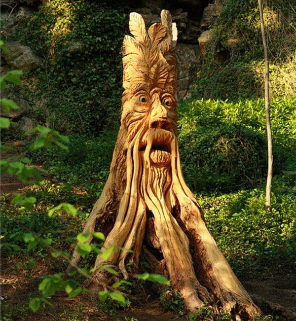 For several weeks, residents in Knaresborough, North Yorkshire were baffled when a cadre of mystical creatures suddenly appeared in their surrounding woods - the enchanted forest sprouted a dragon, a kingfisher, and a ghoul standing over 10 feet high. Now local chainsaw carver Tommy Craggs has come forward as the mystery artist