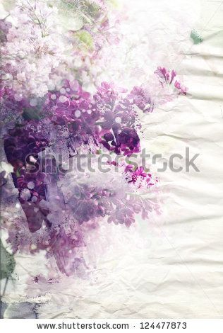 Lilac flowers on paper texture background by run4it, via Shutterstock