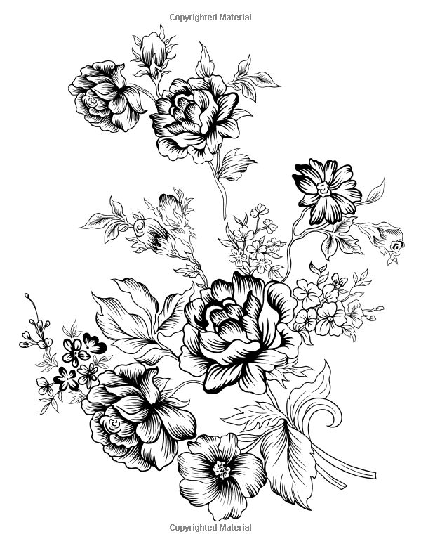 Flowers Coloring Book: Beautiful Pictures from the Garden