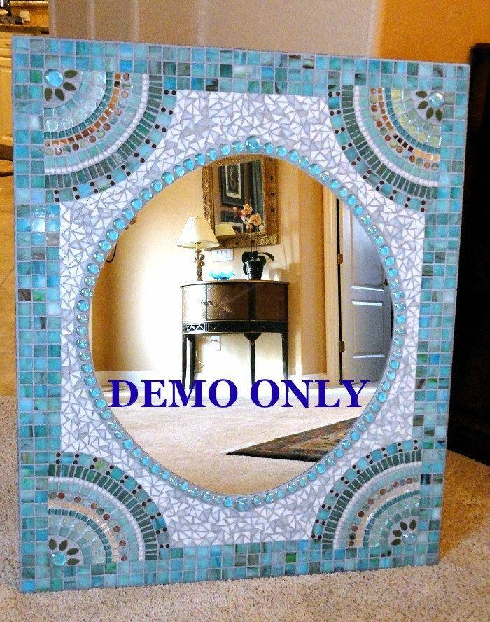 YOU CHOOSE Custom Mosaic Mirror Fan by memoriesinmosaics on Etsy