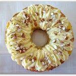 Rosca de almendras y crema pastelera
