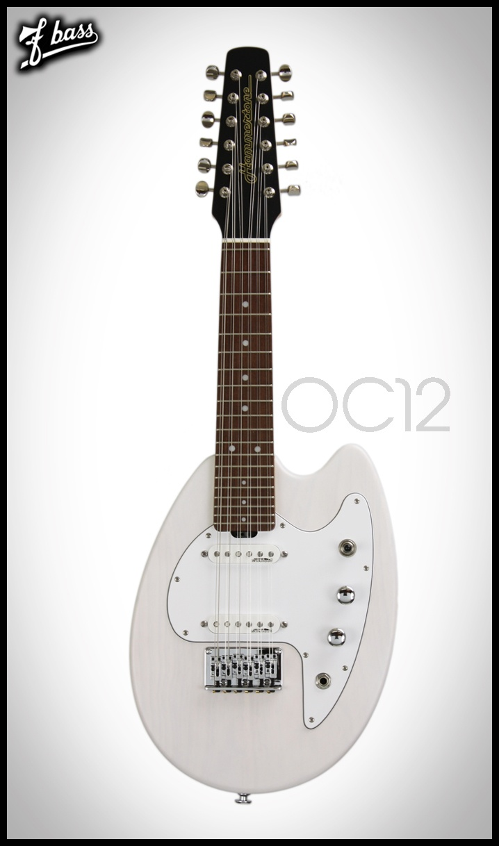 Hammertone Octave Twelve series of guitars, is a 12 string electric guitar/mandolin hybrid.   Produces a lovely shimmering chime, much like a traditional mandolin, but offer the familiar features of a 12 string guitar.  Crafted at fBass.