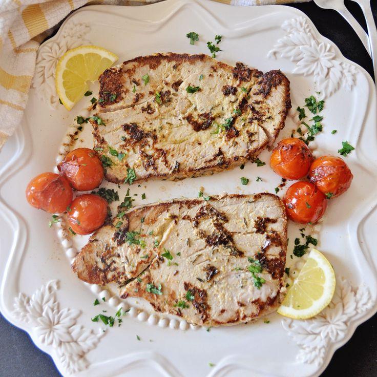 Seared Tuna Steaks w. Tarragon Avocado Spread Recipe
