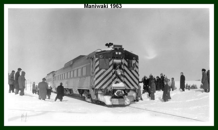 Dernier voyage du train de Maniwaki Québec