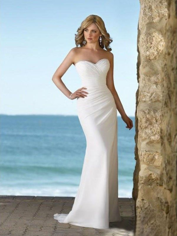 2013 absorbing abest selling neckline with sexy mermaid chiffon beach wedding dresses