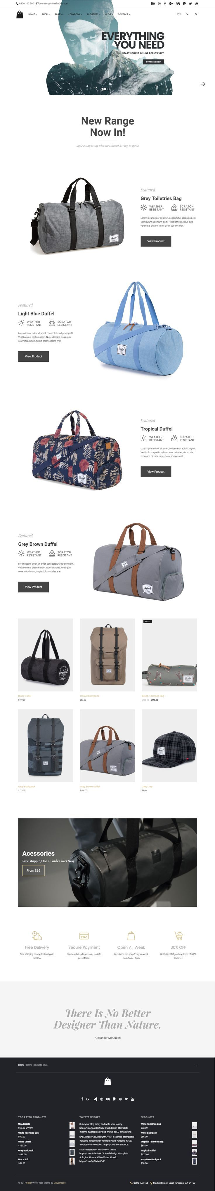 Seller - eCommerce WordPress Theme for creative and modern online stores - Responsive, clean, modern, Stylish, minimalist and multi-purpose shop template  https://visualmodo.com/theme/seller-ecommerce-wordpress-theme/  #webdesign #HTML5 #CSS3 #template #plugins #themes #WordPress #onepage #ecommerce #responsive #retina #marketing #website #blog #bootstrap #magazine #slider #business #siteBuilder #creative #Menu #Store #Shop #WooCommerce