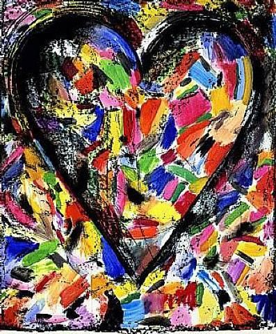 jim dine | Jim Dine, The Confetti Heart , 1985, lithography (Private collection)