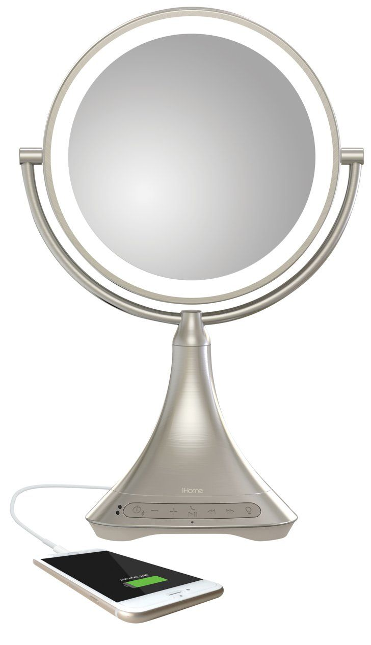 Pin for Later: Vanity Mirrors Got a Major Tech-y Update — and You're Going to Love it! iHome Bluetooth Vanity Mirror