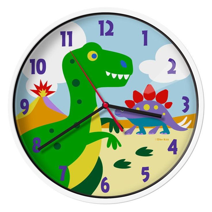 Olive Kids Dinosaur Land Wall Clock - 623412